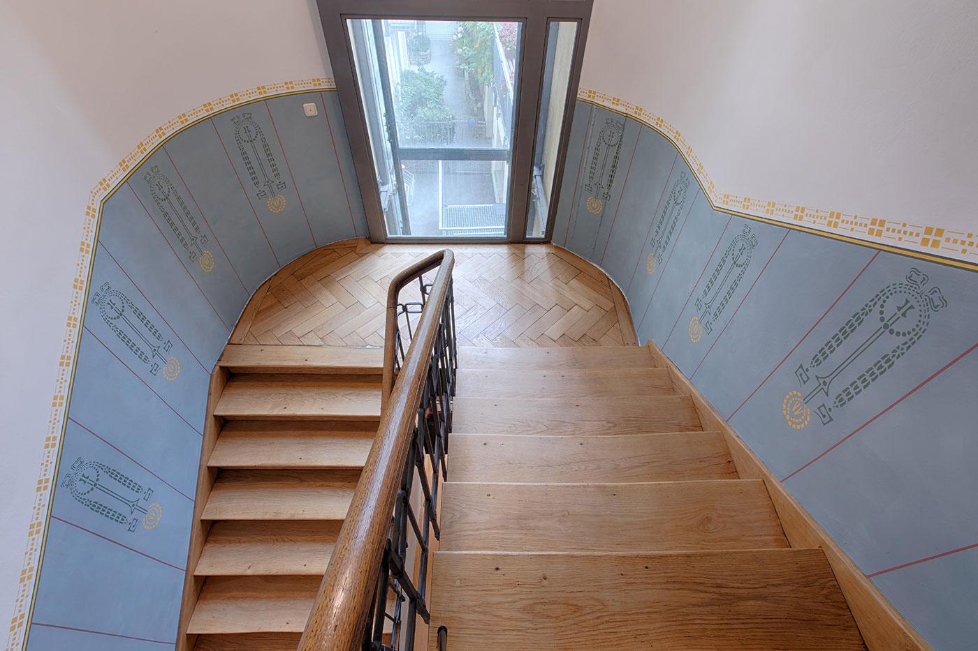 Treppenhaus nach Vorgaben Denkmalschutz rekonstruiert
