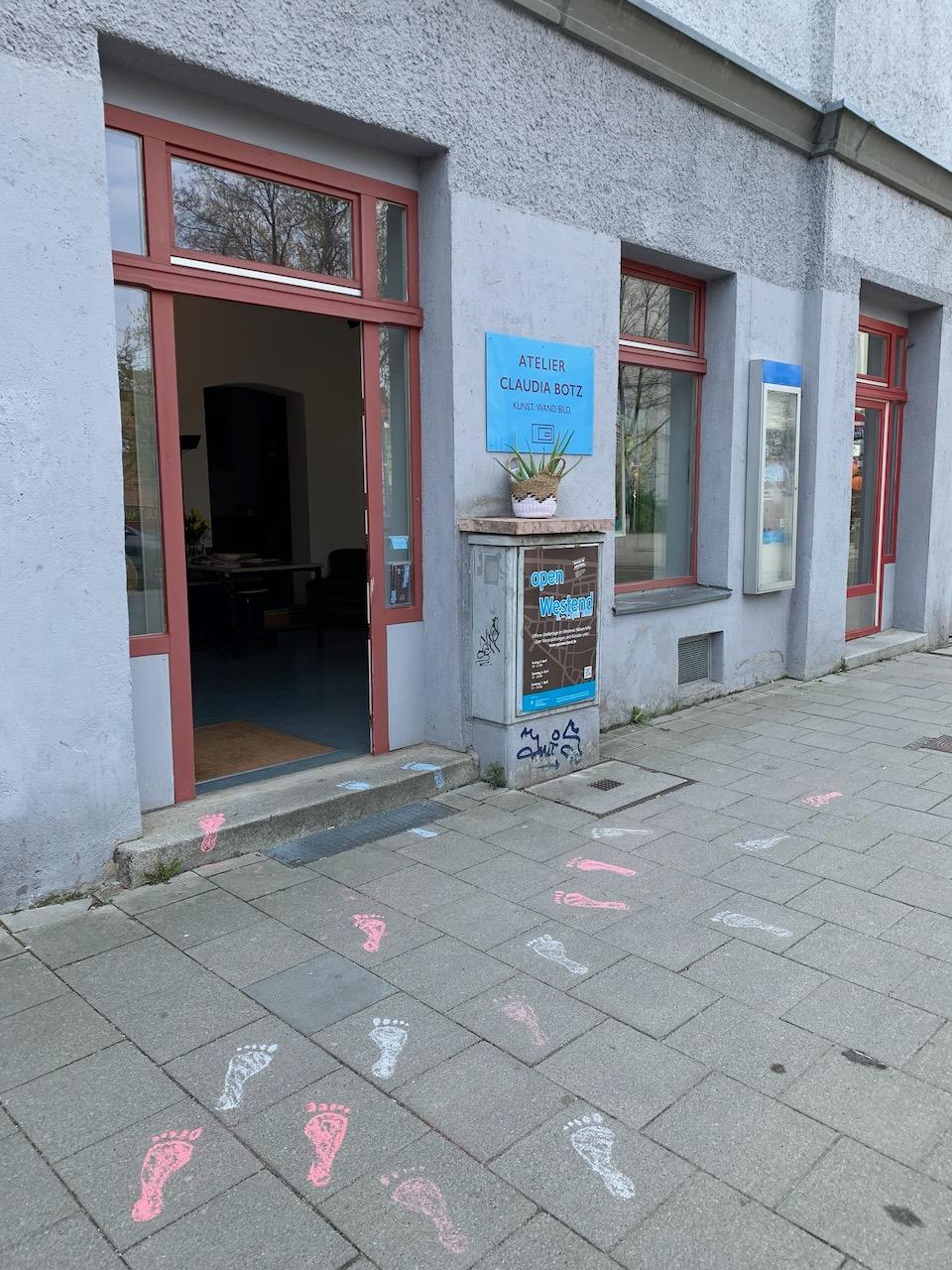 Atelier Eingang Westend München