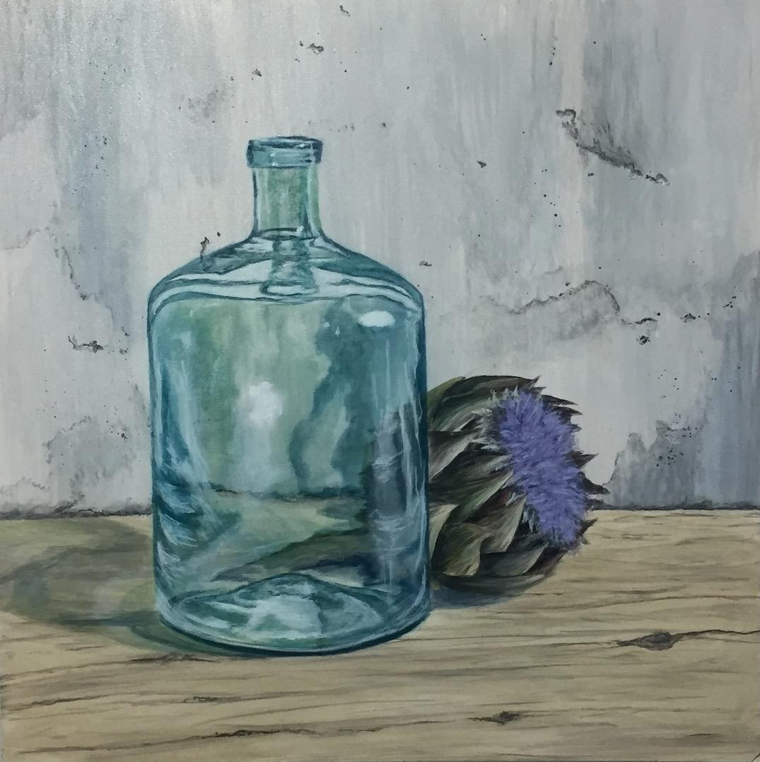 Atrischocke und Flasche