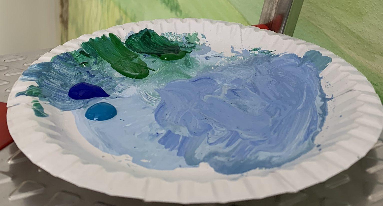 Farbteller für die Kunst