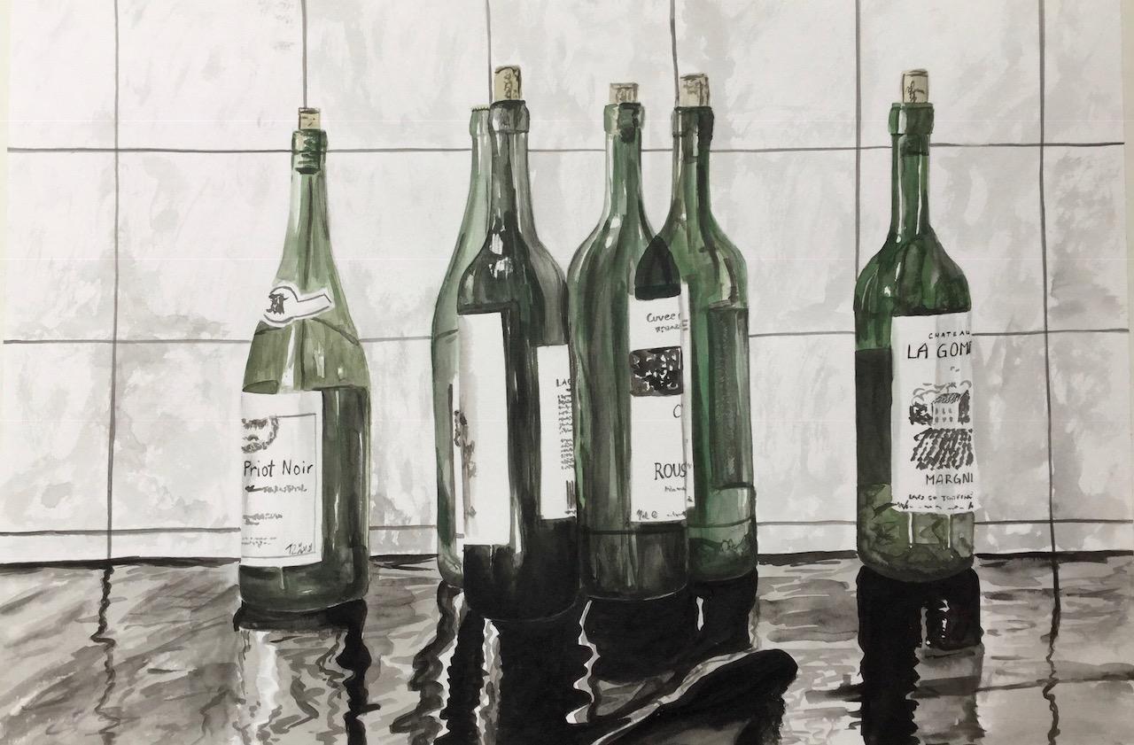 Flaschen nach der Party