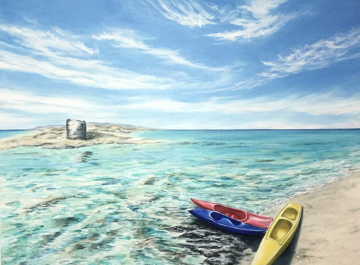 Kajaks am Meer