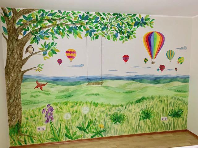 Landschaft im Kinderzimmer