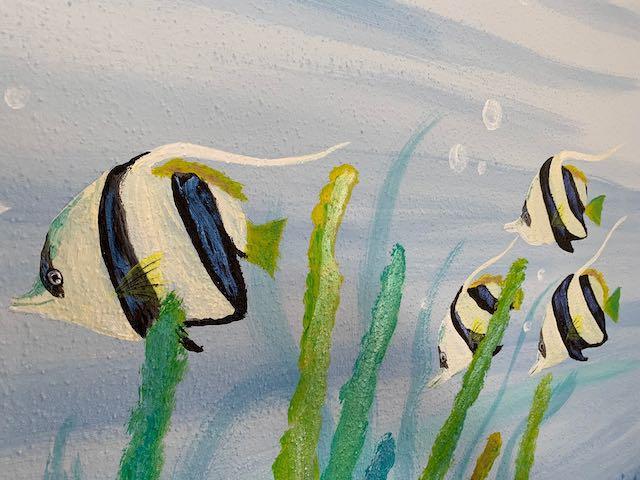 Zebrafische an der Wand
