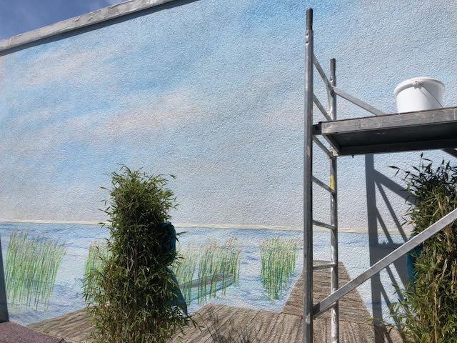 Wandmalerei auf Aussenwänden