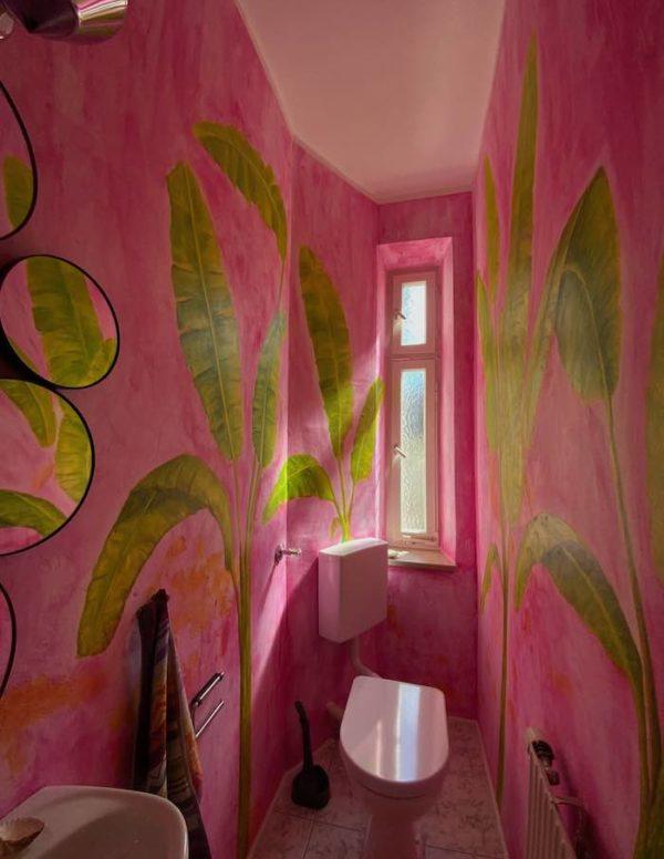 Wandmalerei in Wohnräumen