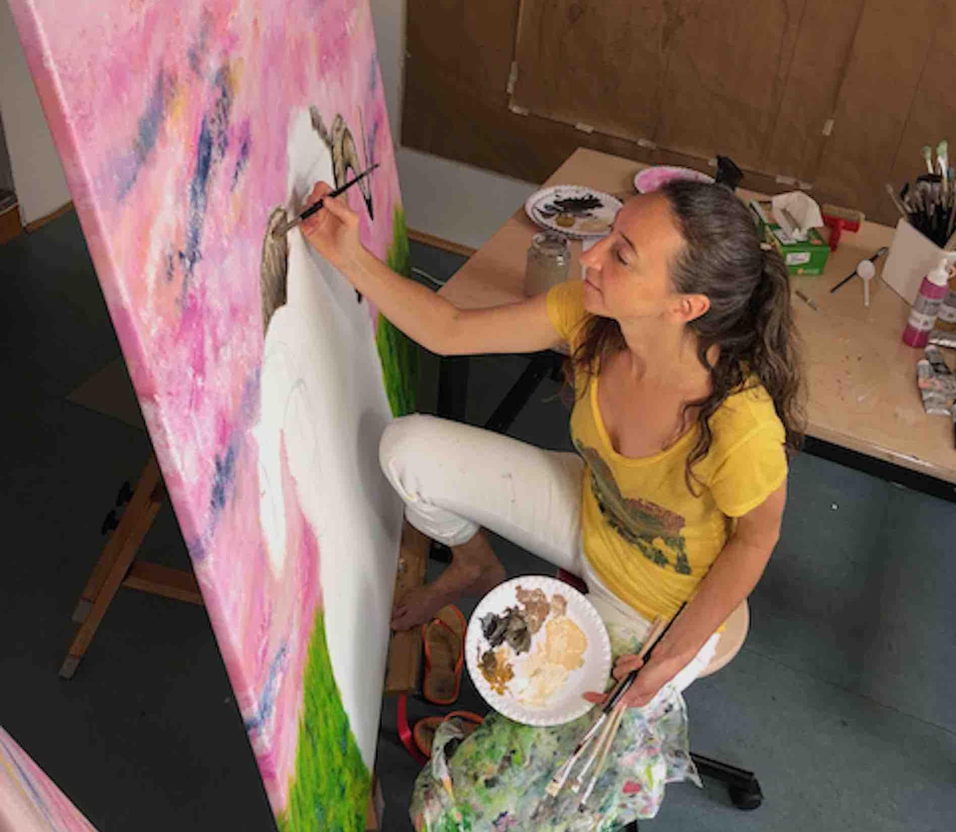 Claudia Botz - CeBo - beim Malen